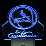 St. Louis Cardinals Baseball Day/ Night Sensor Led Night Light Sign