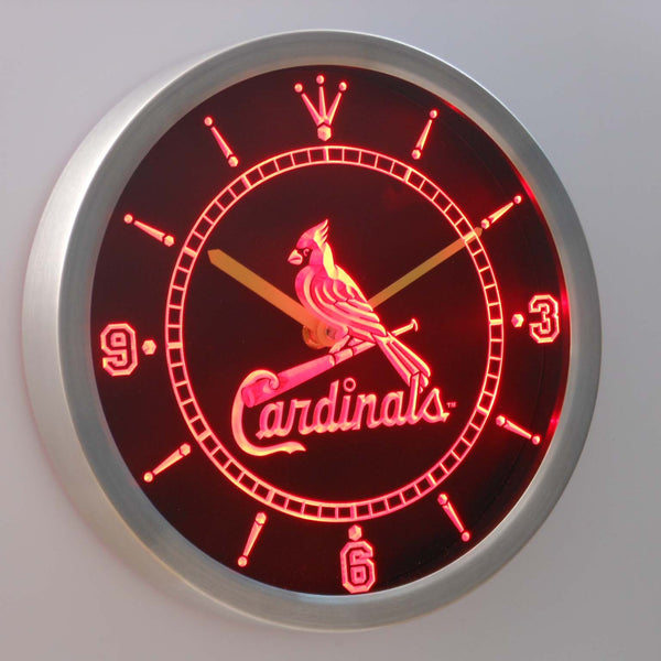 ST Louis Cardinals Sign LED Wall Clock