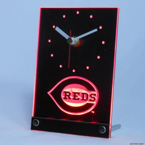 Cincinnati Reds Table Desk 3D LED Clock -  - TheLedHeroes