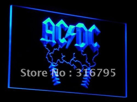 ACDC AC/DC Rock n Roll Bar LED Neon Sign