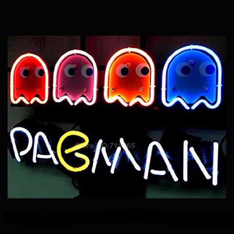 PacMan Game Neon Bulbs Sign 17X14
