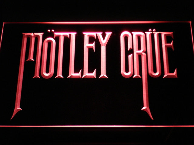 Motley Crue Band Rock Bar LED Sign - Red - TheLedHeroes