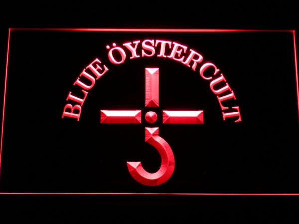 Blue Oyster Cult LED Sign - Red - TheLedHeroes