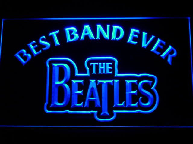 The Beatles Best Band Ever LED Sign - Blue - TheLedHeroes