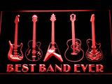 Guitar Weapon Best Band Ever LED Sign - Red - TheLedHeroes