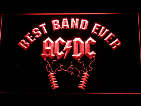 ACDC Best Band Ever LED Neon Sign with On/Off Switch 7 Colors to choose