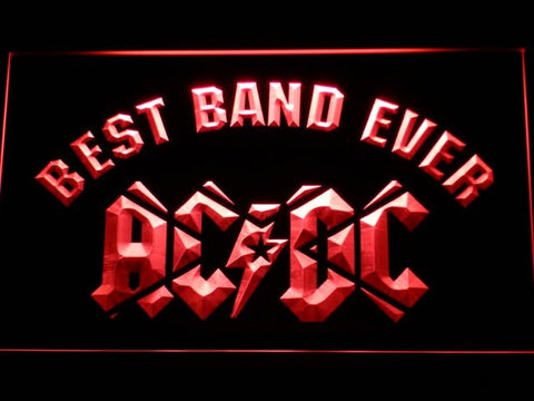 ACDC Best Band Ever LED Sign