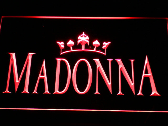 MaDonna Queen LED Sign - Red - TheLedHeroes