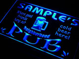 Neighborhood Pub Name Personalized Custom LED Sign - Blue - TheLedHeroes