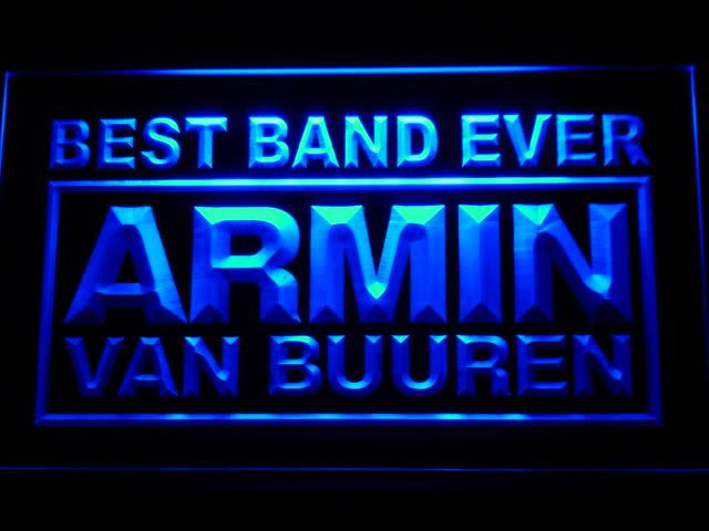 Armin Van Buuren Best Band Ever LED Sign - Blue - TheLedHeroes