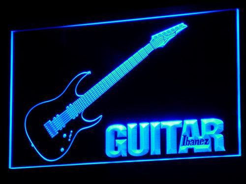 Guitar LED Sign - Blue - TheLedHeroes