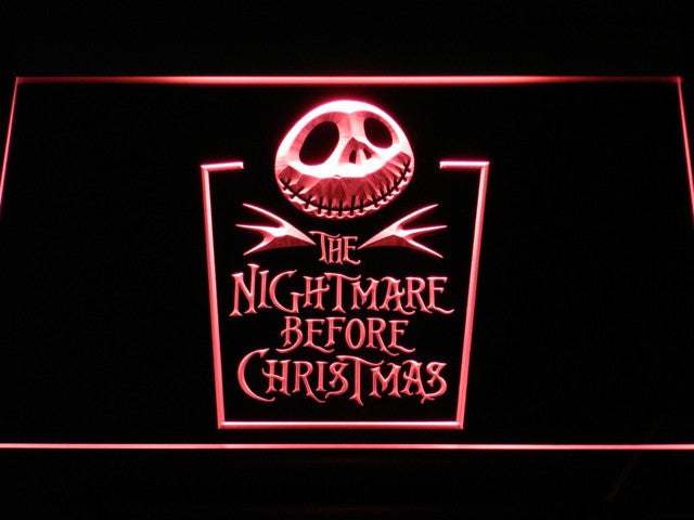 Nightmare before Christmas LED Sign - Red - TheLedHeroes