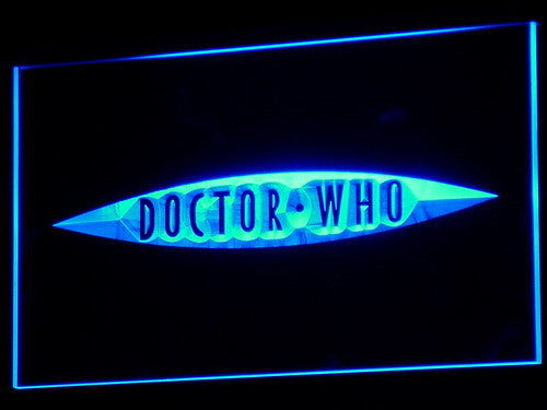 Doctor Who 2 LED Sign - Blue - TheLedHeroes