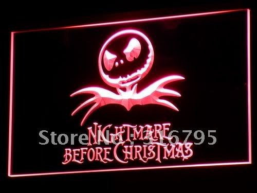 Nightmare Before Christmas NBC LED Sign -  - TheLedHeroes