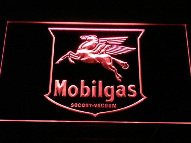 MOBILGAS RD PUMP LED Sign - Red - TheLedHeroes
