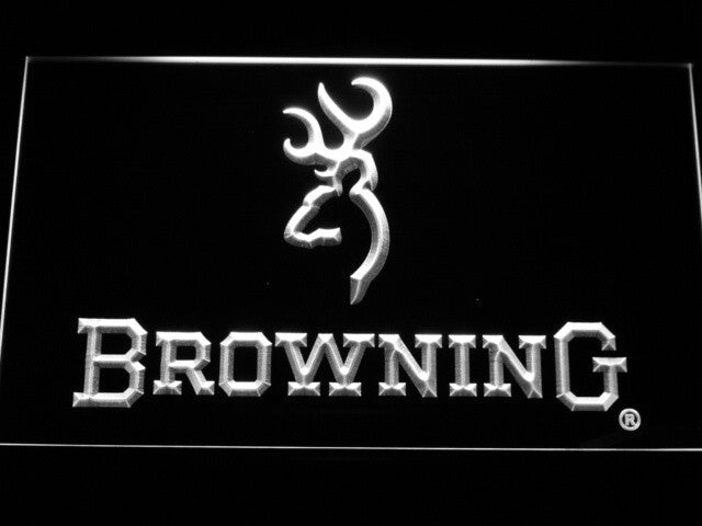 Brown Firearm LED Sign