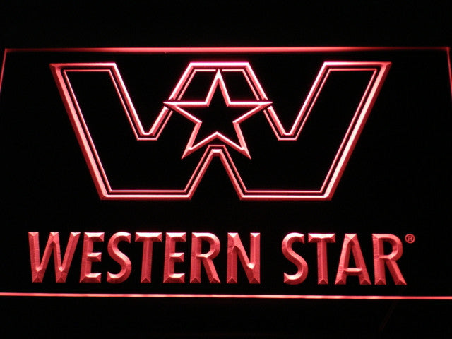 Western Star Logo Services NEW LED Sign - Red - TheLedHeroes