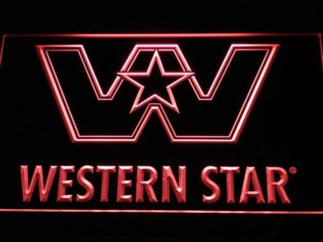 Western Star Logo Services NEW LED Neon Sign USB - Red - TheLedHeroes