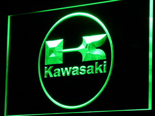 Kawasaki Racing Motorcylce LED Sign - Green - TheLedHeroes