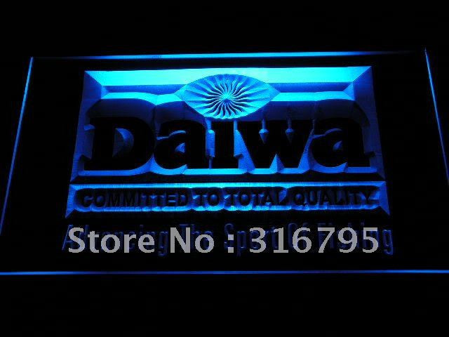 Daiwa Fishing Logo LED Sign - Blue - TheLedHeroes