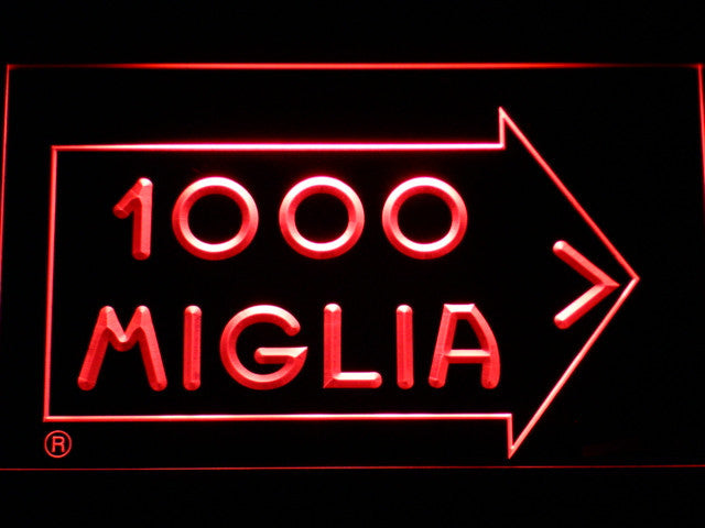 Mille Miglia Racing LED Sign - Red - TheLedHeroes