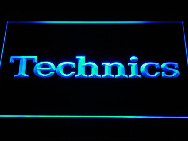 Technics Turntables DJ Music NEW LED Sign - Blue - TheLedHeroes
