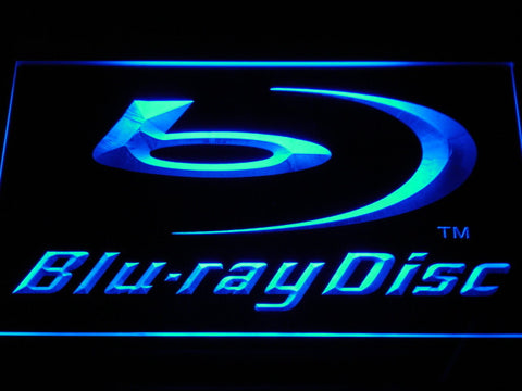 Blu-ray Disc Logo Display LED Neon Sign with On/Off Switch 7 Colors to choose