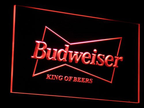 Budweiser King Beer Bar Pub Club LED Neon Sign with On/Off Switch 7 Colors to choose