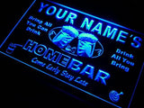 Home Bar Beer Name Personalized Custom LED Sign - Blue - TheLedHeroes