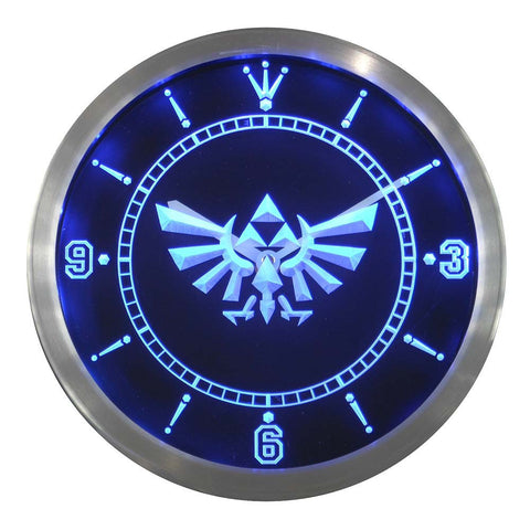 Legend Of Zelda Triforce LED Wall Clock -  - TheLedHeroes