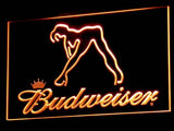 Budweiser Exotic Dancer Stripper Bar LED Sign - Orange - TheLedHeroes