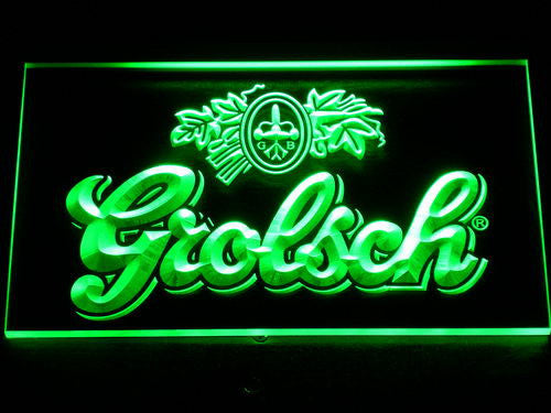 Grolsch Beer Bar Pub Club NEW LED Sign - Green - TheLedHeroes