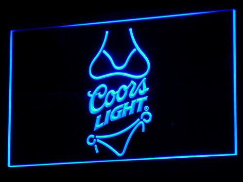 Coors Light Beer Bikini Bar Pub LED Sign - Blue - TheLedHeroes
