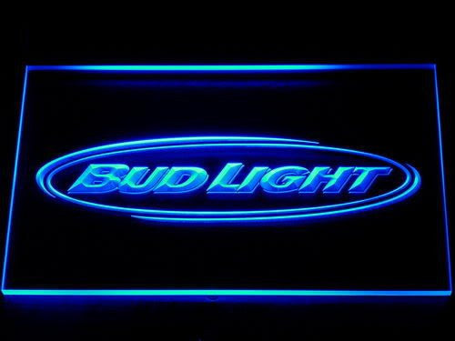 Bud Light Beer Bar Pub Club NR LED Sign - Blue - TheLedHeroes