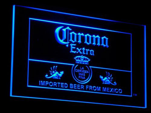Corona Mexico Beer Bar Pub Club LED Sign - Blue - TheLedHeroes