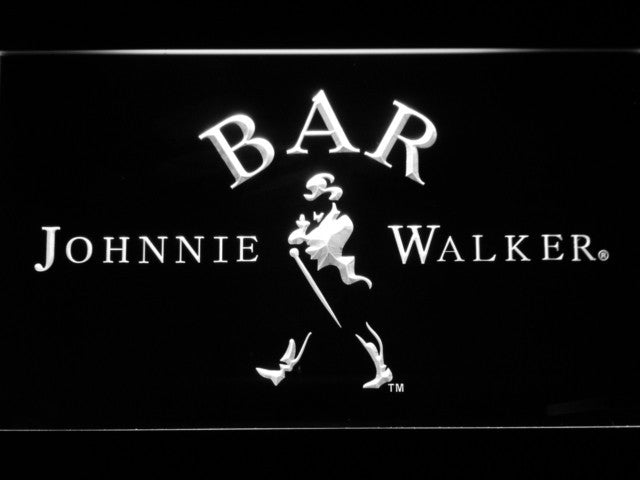 Johnnie Walker BAR Whiskey LED Sign - White - TheLedHeroes