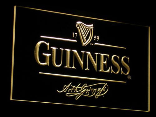 Guinness Alec Arth Beer Bar Club Light Sign with On/Off Switch 7 Colors to choose