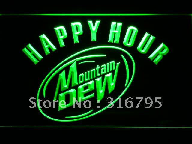 Mountain Dew Happy Hour Beer Bar LED Sign -  - TheLedHeroes