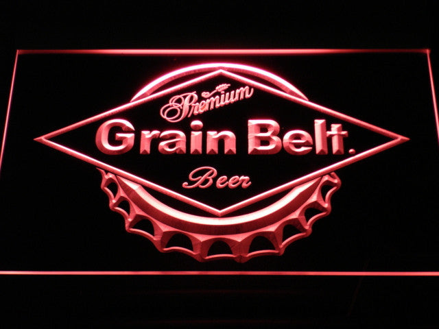 Grain Belt Beer LED Sign - Red - TheLedHeroes