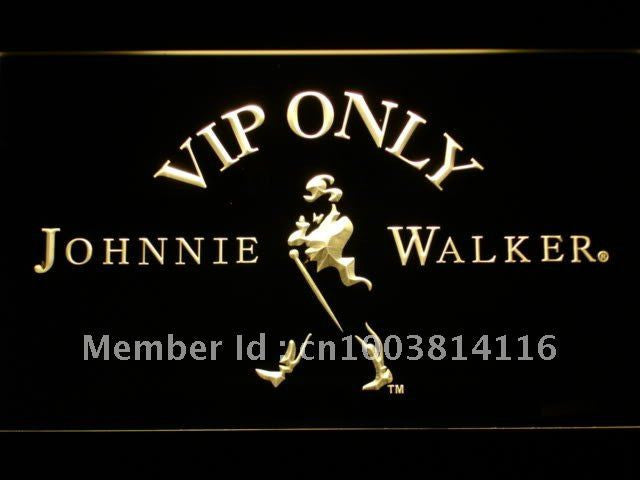 Johnnie Walker Whiskey VIP Only LED Sign