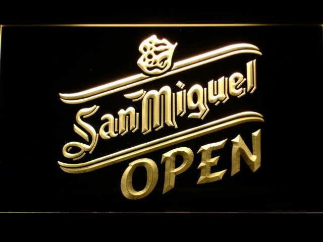 San Miguel Beer OPEN Bar LED Sign - Multicolor - TheLedHeroes