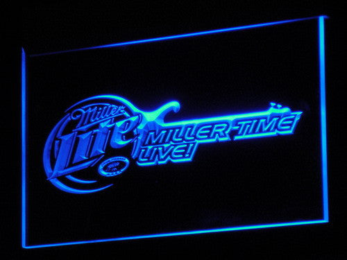 Miller Lite Beer Bar Guitar LED Neon Sign with On/Off Switch 7 Colors to choose