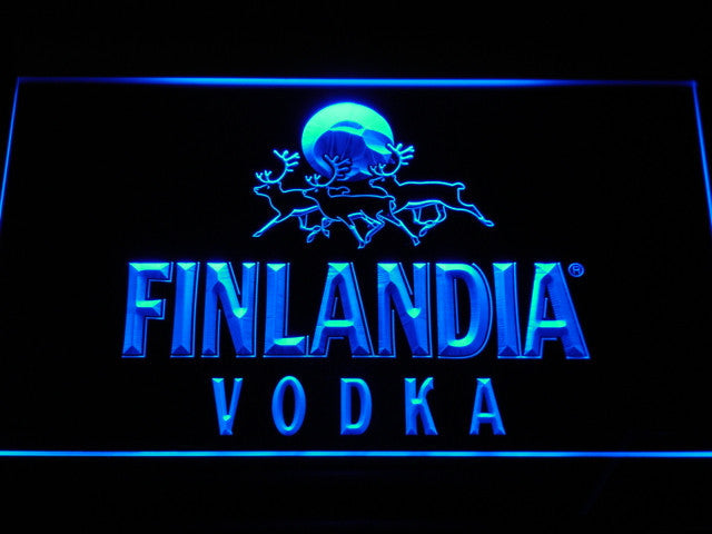 Finlandia vodka LED Sign - Blue - TheLedHeroes