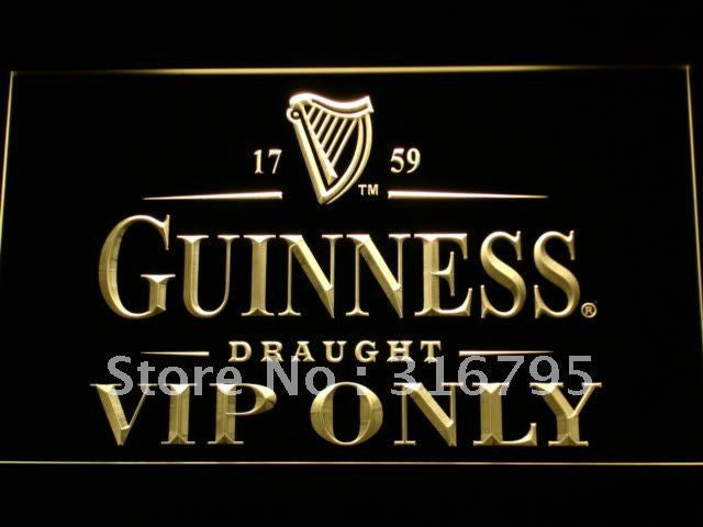 Guinness VIP Only Bar LED Sign