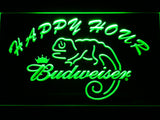 Budweiser Lizard Happy Hour Bar LED Sign - Green - TheLedHeroes