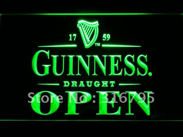 Guinness Draught Beer OPEN Bar LED Sign -  - TheLedHeroes