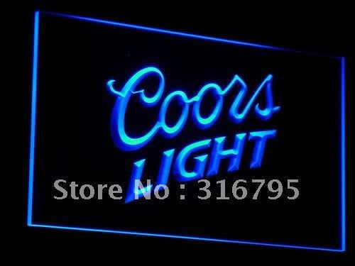 Coors Lite Beer NR Bar Pub Club LED Sign - Blue - TheLedHeroes
