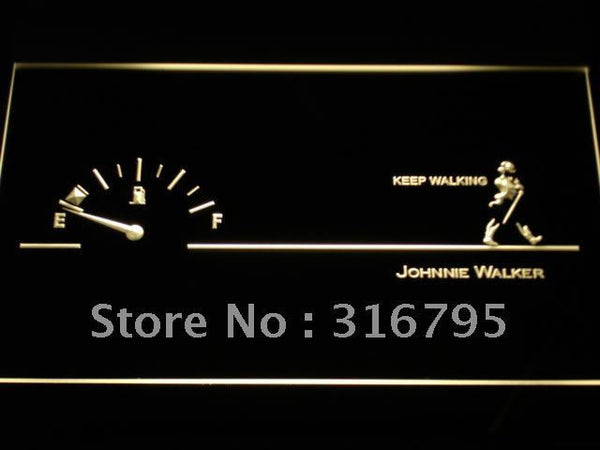 Johnnie Walker Keep Walking Fuel LED Neon Sign
