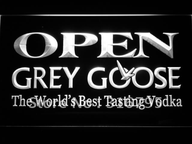 Grey Goose Vodka OPEN Bar LED Sign -  - TheLedHeroes
