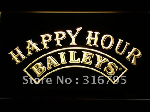 Baileys Happy Hour Bar LED Neon Sign